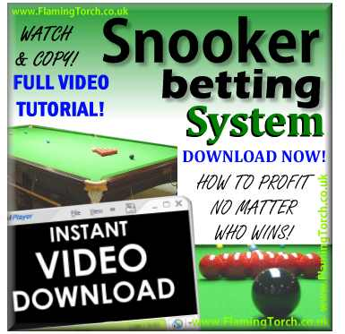 Snooker trading strategies