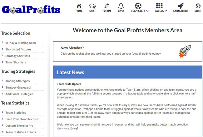 Goal Profits Members Area
